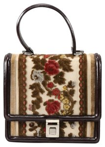 Tano Vintage Carpet Patent Leather Satchel in multi color