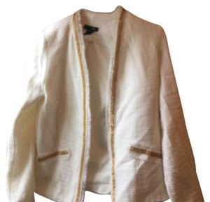 Bloomingdale's white and gold Blazer