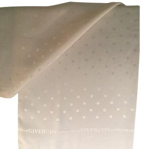 Givenchy Givenchy Gentleman's Silk Fringed Formal Attire Men's Scarf - Italy