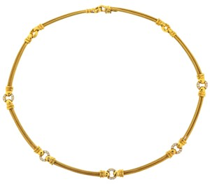 Charriol 18k Yellow Gold Philippe Charriol Diamond Cable Necklace