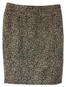 White House | Black Market A-line Tweed Classic Simple Business Skirt Black