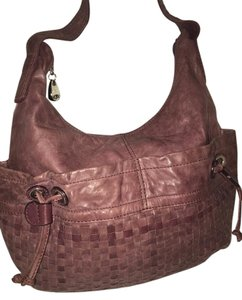 NICOLI Violet Leather Hobo Bag