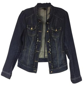 White House | Black Market Denim Casual Fitted Fun blue Womens Jean Jacket