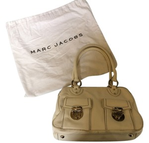 Marc Jacobs Leather Silver Hardware Satchel in White