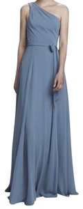"""Amsale Dove Flat Chiffon """"Laurie"""" Style(S): G894f In Formal Bridesmaid/Mob Dress Size 4 (S)"""