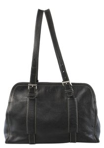Prada Classic Leather Elegant Timless Satchel in Black