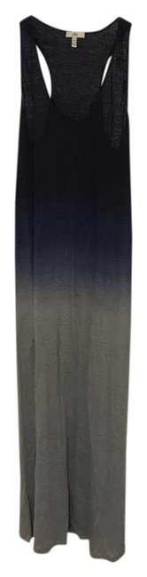 Item - Shades Of Blue Grey Ombré Linen Long Casual Maxi Dress Size 0 (XS)