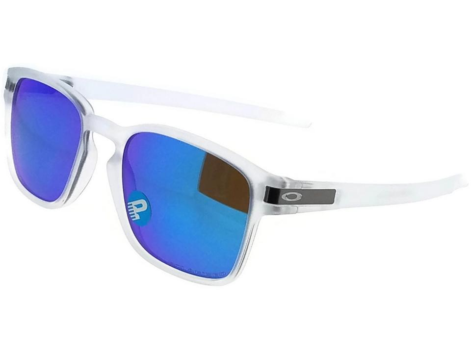 7ecd466a09 Oakley Oo9353-06 Latch Unisex Clear Frame Blue Lens Polarized Sunglasses