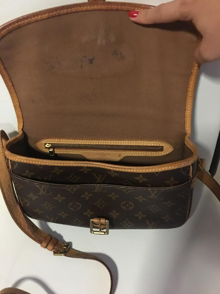 louis vuitton sologne sale brown monogram canvas cowhide cross body bag tradesy. Black Bedroom Furniture Sets. Home Design Ideas