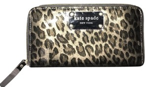 Kate Spade Kate Spade New York Leopard Grainy Vinyl Stacy Wallet
