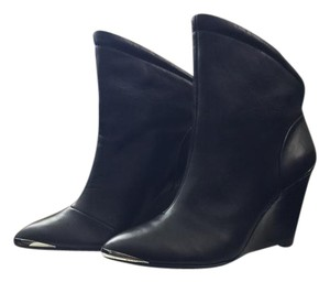 Belle by Sigerson Morrison Silver Wedge Black Boots