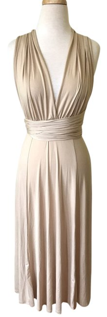 Item - Nude Beige Tan Convertible Mid-length Casual Maxi Dress Size 4 (S)