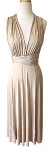 Nude, beige, tan Maxi Dress by Aria Long