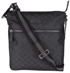 b73deb86f872 Gucci Messenger Cross Body Travel Black Messenger Bag