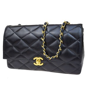 Chanel Vintage Quilted Lambskin Gold Hardware Rare Shoulder Bag