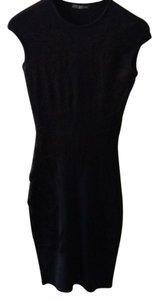 navy and black Maxi Dress by Alexander McQueen