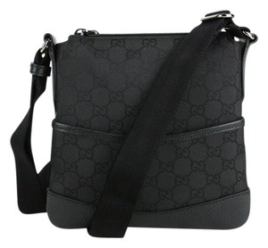 Gucci Gg Nylon Small Black Messenger Bag