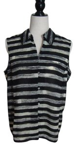 Liz Claiborne 12 Size 12 Top Black/Cream