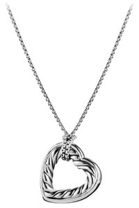 David Yurman Cable Heart Pendant with Gold on Chain