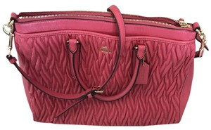 Coach Morgan Twisted Gathered Leather Satchel