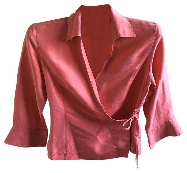 Item - Peach Tie-over Blouse Size 4 (S)