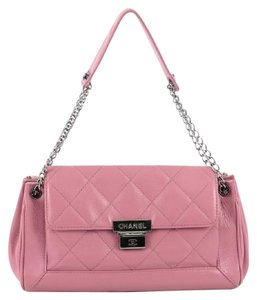 Prada Chanel Accordion Quilted Leather Shoulder Bag