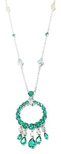 Graff GRAFF WHITE GOLD ROUND AND PEARSHAPE EMERALD NECKLACE