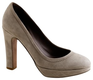 J.Crew Coddington Taupe Suede Leather Made In Italy Gray Pumps