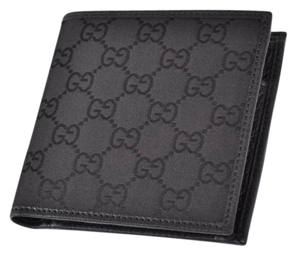 33bbcb4f99ee Gucci NEW GUCCI Men's 150413 Black Canvas GG Guccissima Coin Pocket Wallet  Image 0 ...