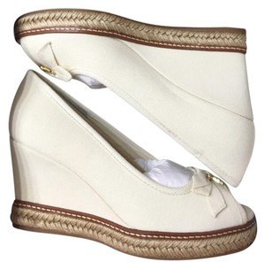 Tory Burch Ivory Wedges