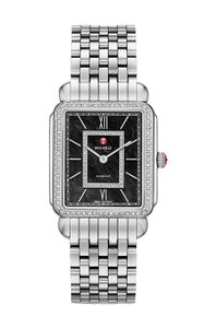 Michele NEW Deco II Diamond Black MOP Dial MWW06X000011 Ladies Watch