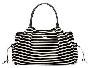 Kate Spade Nylon Stripe Stevie BLACK / WHITE Diaper Bag