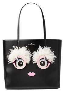 Kate Spade Monster Hallie Leather Tote in BLACK / MULTI