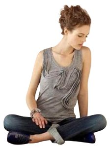 Anthropologie Top Marled Gray