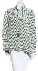 10 Crosby Derek Lam Printed Silk Button Top