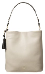 Kate Spade Leather Roselee Tote in CRISP LINEN