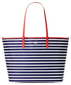 Kate Spade Harmony Nylon Handbag Sapphire Blue / Cream White / Red Diaper Bag
