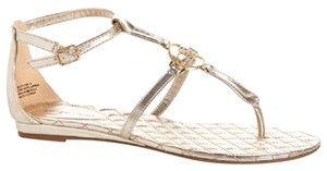 bebe Ankle Strap Crystal Casual Gold LT Gold Sandals