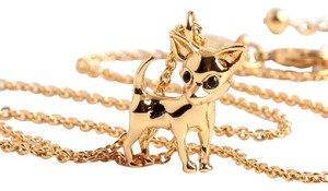 Kate Spade KATE SPADE 12K Gold Plated Chihuahua Pendant Necklace