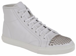 Gucci High Top Sneakers Stud Great White Athletic