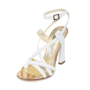 Dsquared2 2 D2 Women Genuine Leather High Heels White Sandals