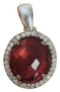 Big Ruby big round Ruby with 28 in silver chain