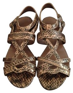 Tabitha Simmons Couture Salmon Snakeskin Sandals
