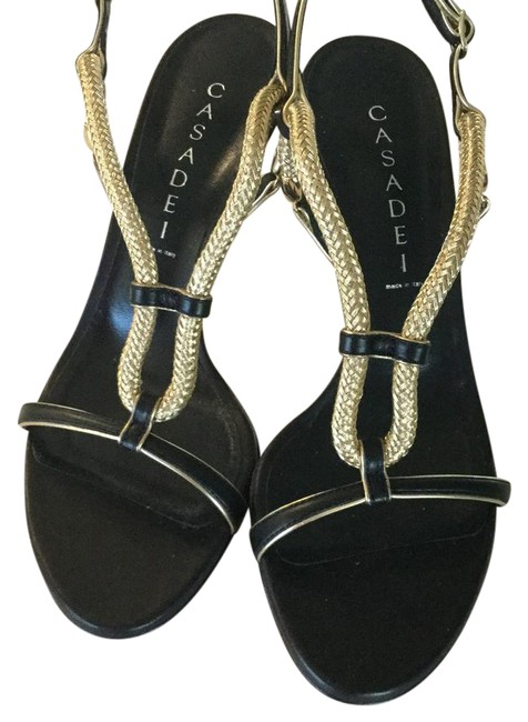 Item - Black and Gold Formal Shoes Size US 7 Narrow (Aa, N)