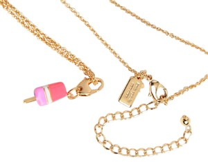 Kate Spade KATE SPADE 12K Popsicle Charm w/ Chain Necklace