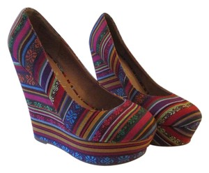 Privileged Bohemian Multi Color Wedges