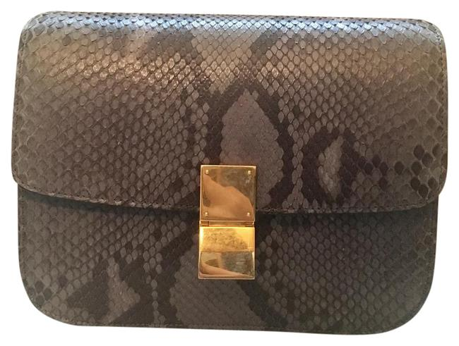 Item - (New)limited Edition Classic Grey Lilac Python Skin Leather Shoulder Bag