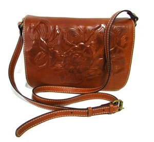 Patricia Nash Designs Leather Rose Messenger Classic Cross Body Bag