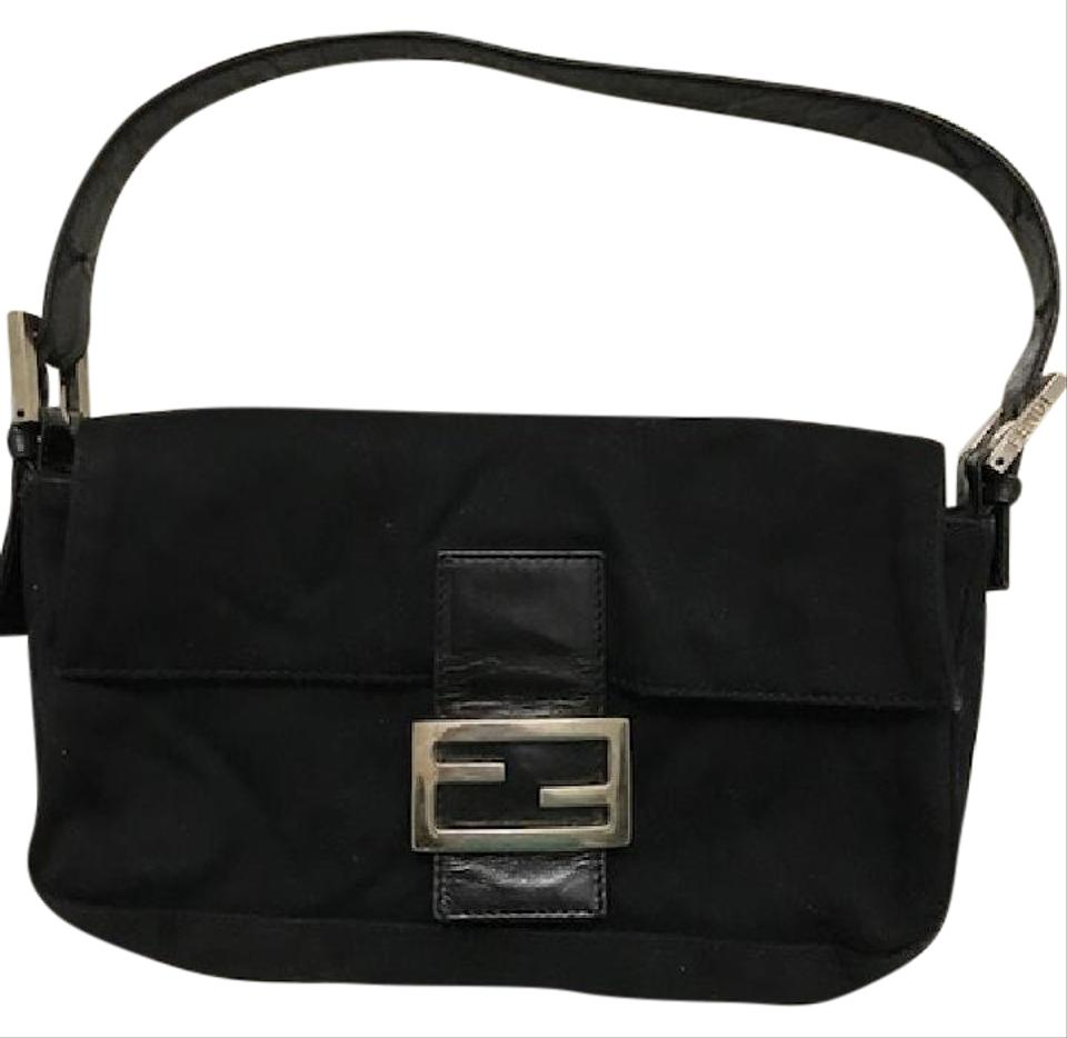 e2477eea Fendi Mini Mama Black Nylon Shoulder Bag