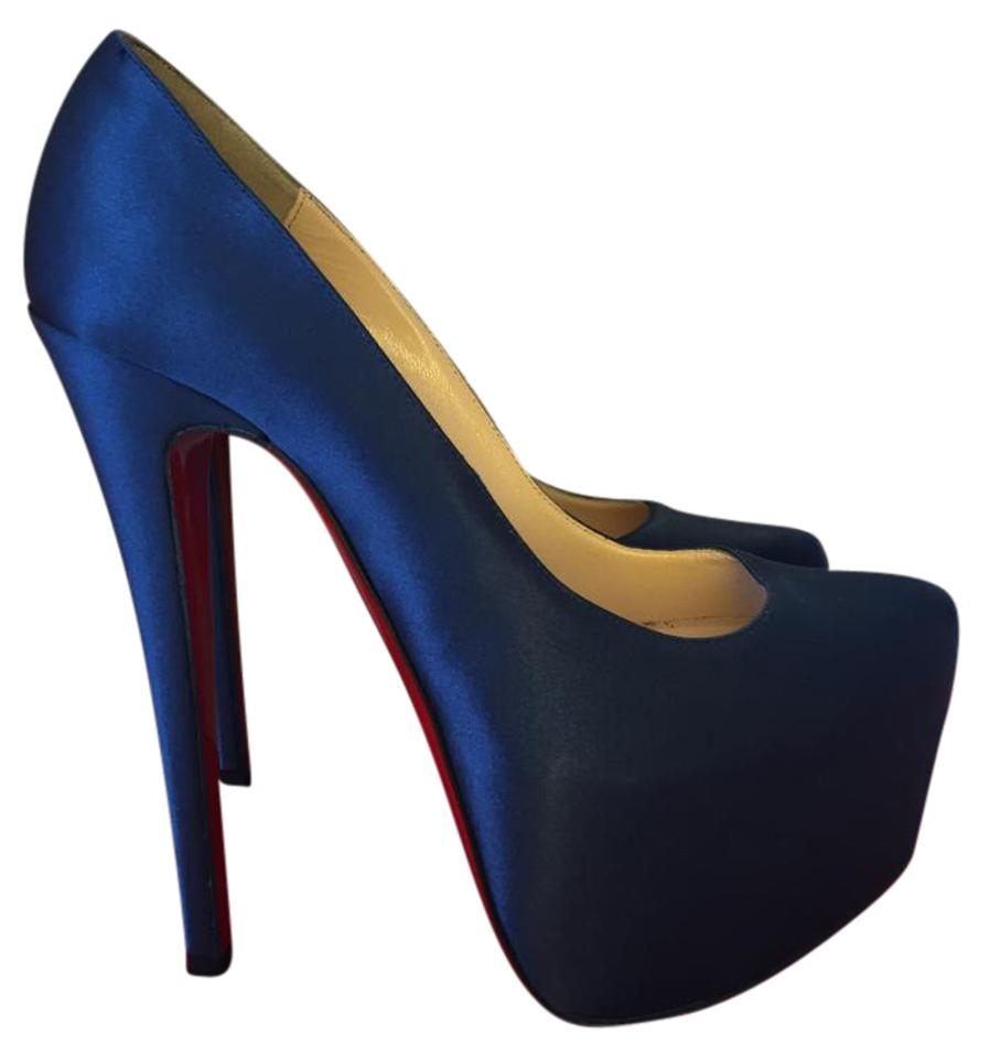 596545b1ff61 Christian Louboutin High Heels Boots Spikes Zanotti Pigalle Pump dark blue  Platforms …